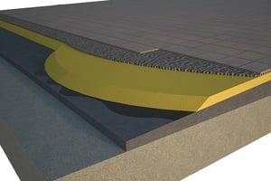 espesor óptimo del poliuretano cubierta plana baldosa