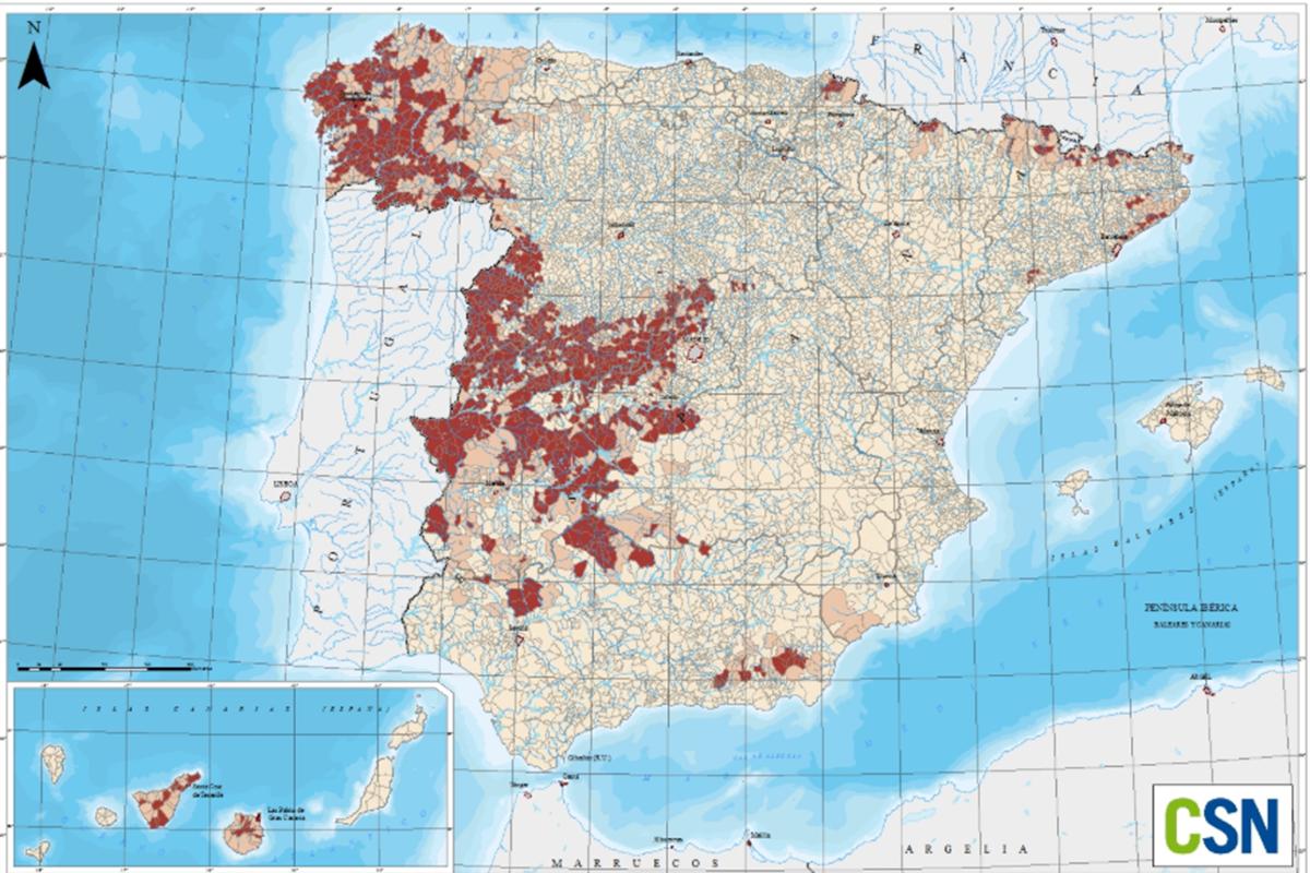 23 - El mapa del gas radón en España 02
