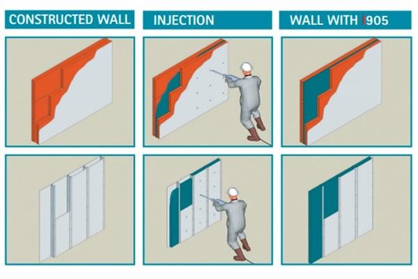 Poliuretano inyectado para fachadas Phono Spray I-905 2