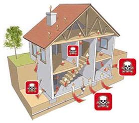 Radon gas building enter