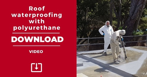 Video: roof waterproofing with polyurethane